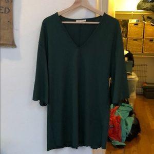 ZARA green ribbed dress